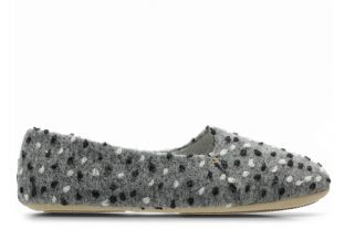 Clarks Home Cozily Snug Grey Combi Womens Slippers